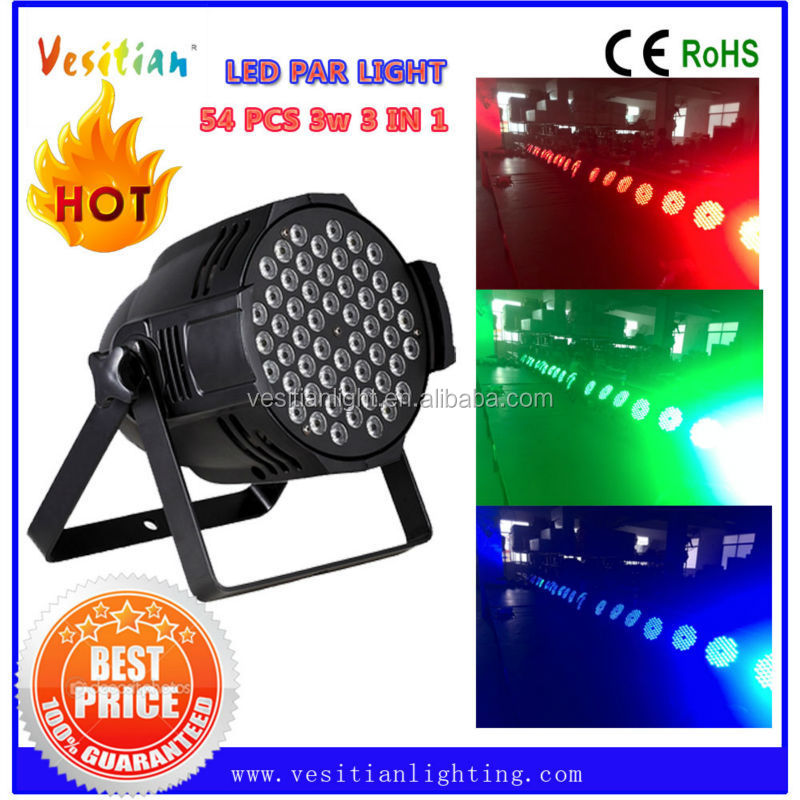 54pcs 3W led par can,led wedding up lights,indoor led.Tri Color 54pcs 3w led Par 64 Uplighting