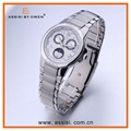 Assisi trendy fashion quartz watch /sun and moon phase watch