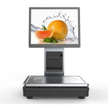Hot-selling 15 inch dual touch screen pos terminal machine weighing scales for store