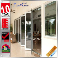 China factory best design aluminum storefront door/bi-folding doors/aluminium bi-fold doors