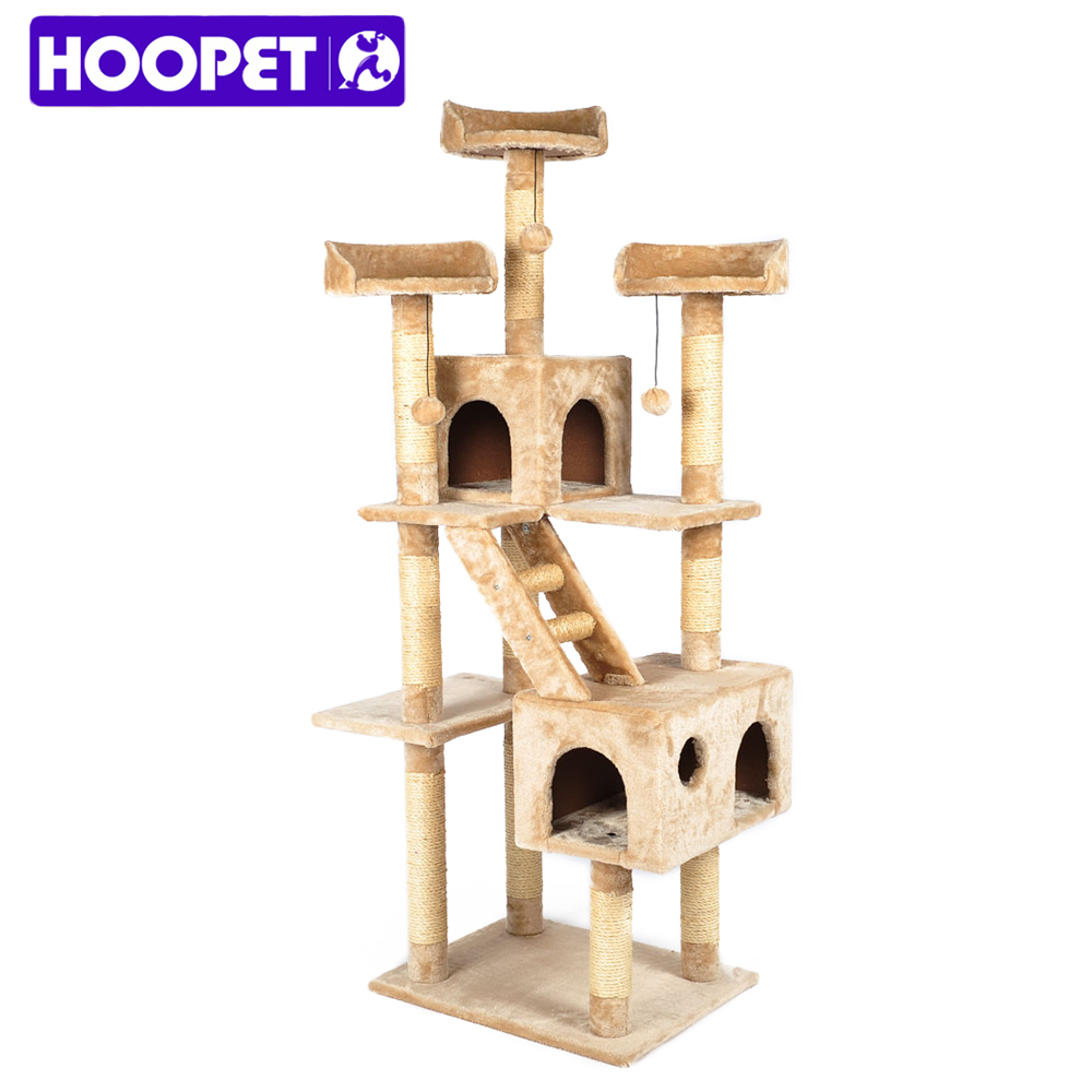 Wooden Sisal Cat Scratching Post Tree House