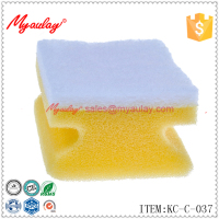 KC-C-037 High Quality Yellow Scouring Pad Sponge Scrub Tile Grout Cleaning Sponge