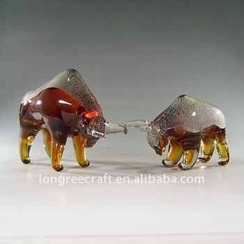 Murano Glass Fighting Bull as Home Decoration-LRT134