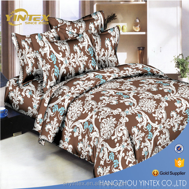2017 European Style Printed Polyester Bed Linens set
