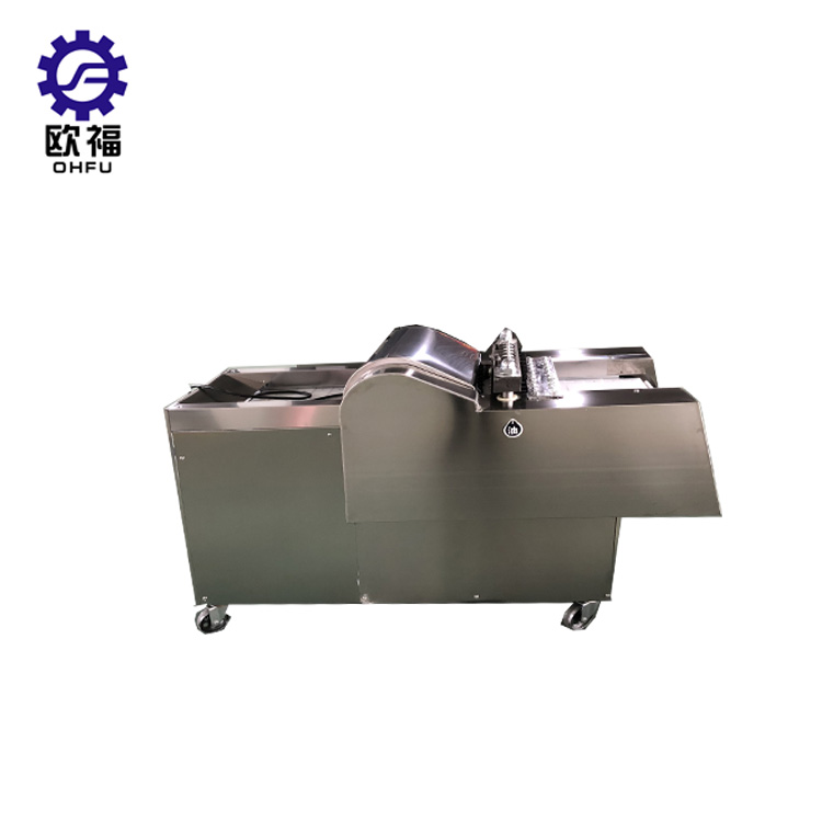 Whole fresh chicken meat cutting machine / Lamb leg meat cube cutter