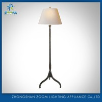 hot-selling fabric shade standing floor lamp