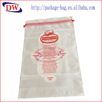 Wholesale custom CPE matte pillow bags general commodity packaging bag bedding drawstring bag