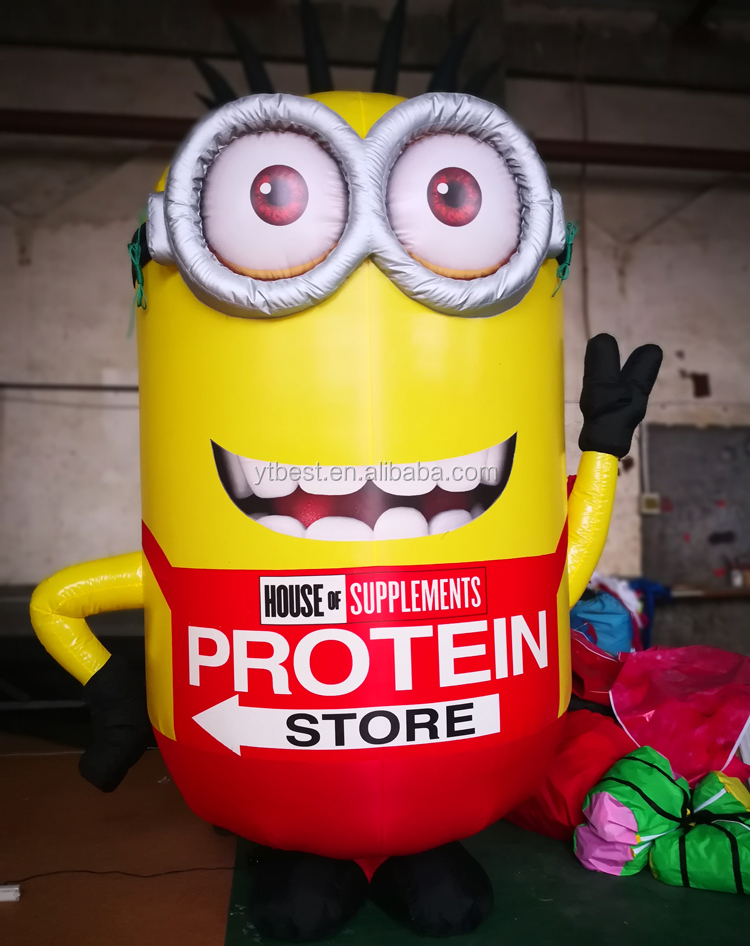 Outdoor advertising custom 3m inflatable Minions cartoon