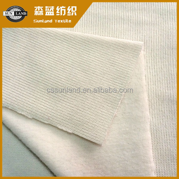100 spun polyester coarser knit fleece fabric for winter cloth