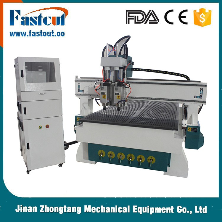 FASTCUT pneumatic tool changer 3d wood cnc router machine / 3d CNC Router for plywood cutting/Cnc Router 1325