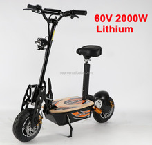 EVO electric scooter 2000W 60V with lithium battery 12 inch cross tires