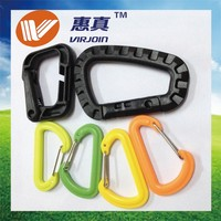 Square Plastic carabiner clips hook Lighter, Mini Small Plastic Carabiner for bags