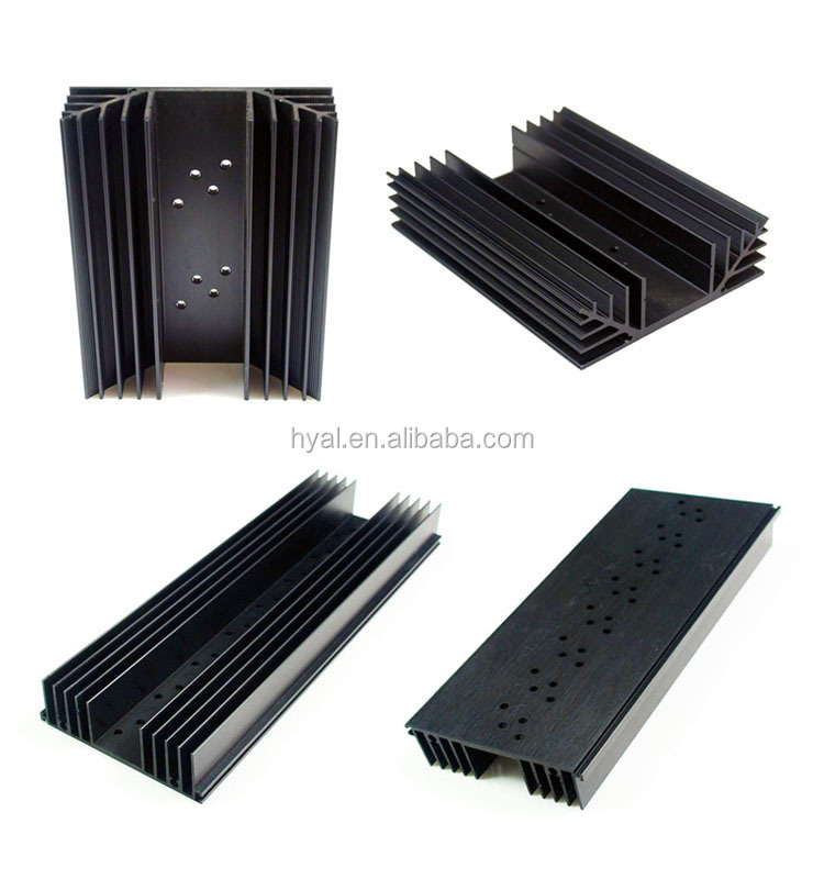 ANODIZED BLACK Aluminum Extrusion Heatsink