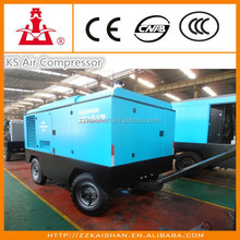 Hot Selling Kaishan Brand Portable Screw Air Compressor / Diesel Type Air Compressor for Sale in 2016