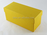 Paper gift boxes with fancy paper design accept company logo printing