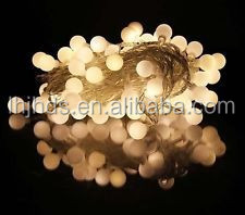 New 10m 100 Matte Ball Warm White LED String Wedding Party Fairy Christmas Light