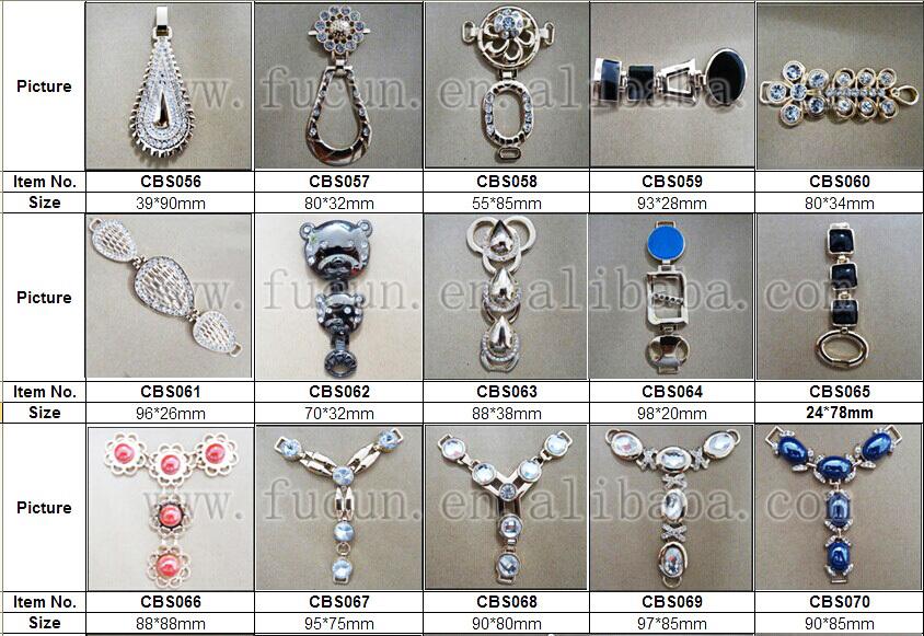 rhinestone metal shoe accessories C5
