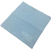 custom emboss logo blue microfiber glass cleaning cloths in bulk