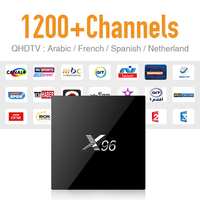 IPTV Europe Android Tv Box 2gb & 1300 Arabic Sky Canal Travel IPTV Hot VOD and Strong Wifi Signal S905X CPU 4K Tv Receiver