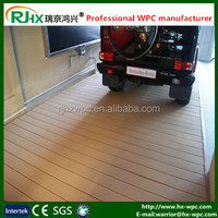 WPC decking floor in garage,balcony,cafe shop area