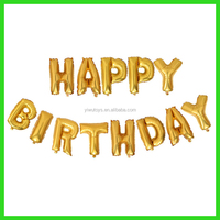 air inflatable 16inch gold happy birthday balloon