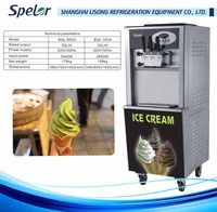 Colorful spraying steel plate body rainbow soft serve ice cream machine