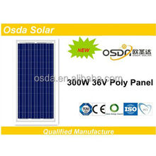 TUV high efficiency poly panel solar 300w