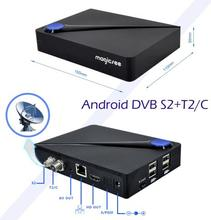 Android satellite receiver Magicsee C300 dvb-t2 dvb-s2 android 7.1 tv box with wifi BT4.0 2GB 16GB built in