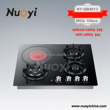 Promotion sales CE,SAA,SII,4 burner touch screen electric ceramic hob gas stove
