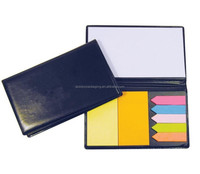 Luxury Sticky Note Pad Sticky Note Book In Black Leather Case