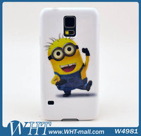 For Galaxy S5 Despicable Me Minion Design Hard Case,Color Pattern Printing PC Case For Samsung Galaxy S5 SM-G900