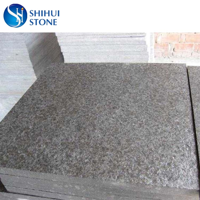 G684 Black Flamed Surface Granite Basalt Tiles