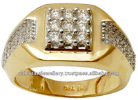 """ 2014 Wholesale Gold Latest Design Diamond Ring , indian gold ring designs, Mens jewelry diamond gold rings online supplier"""