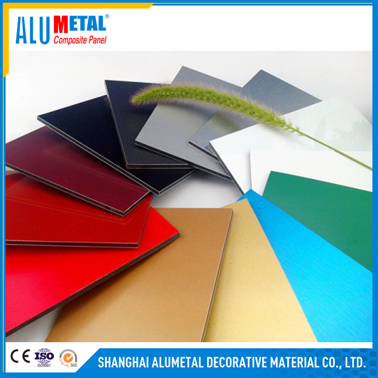 Aluminum foil thickness 0.04-0.08mm 4mm-6mm pvdf/pe aluminum composite panels with 15mm