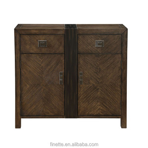 2 drawers and 2 doors wooden antique cabinet