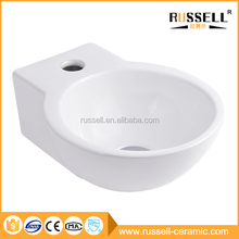 The new listing wall-hung household single hole ceramic bar sink