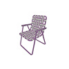 Classic Webbed Aluminum Low Back Folding Lawn Chairs