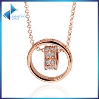 fashion necklaces rose gold plated jewellery