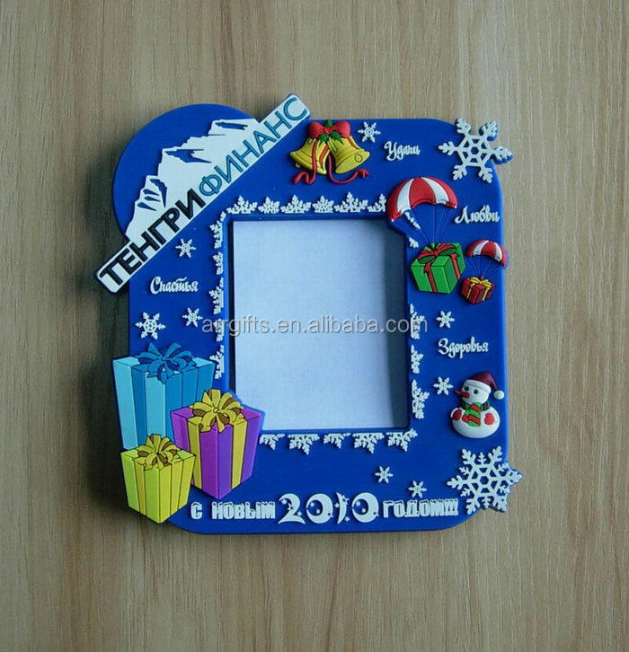 Hot Sale Christmas Xmas Snowflake Snowman PVC Rubber Photo Frame Gifts