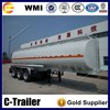 Chengda brand 3 axle liquid tanker crude oil tank trailer for sale
