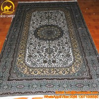5x8ft Living Room Turkish 100% Natural silk on silk red persian carpet handwoven silk carpets