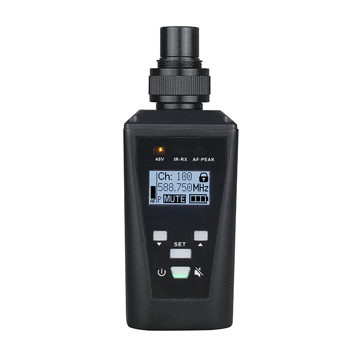 New products! Single channel Wireless plug in transmitter microphone ta-80 uhf digital wireless plug-on transmitter