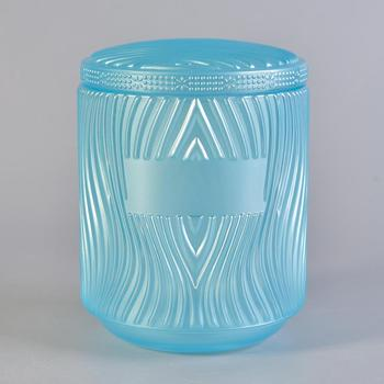 Sunny design river glass candle holder for home decoration