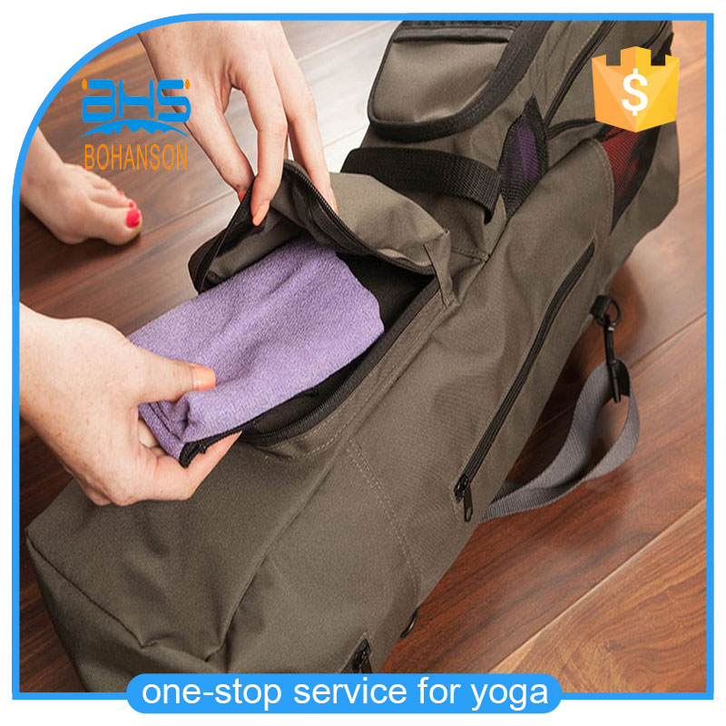 Canvas sport mats carrying bag , wholesale tote pilates yoga bags