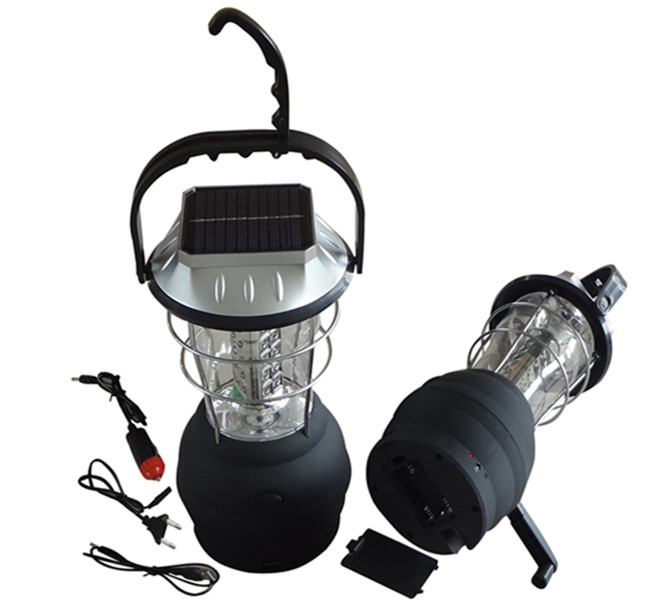 Long working time durable light rechargeable waterproof portable solar camping lantern