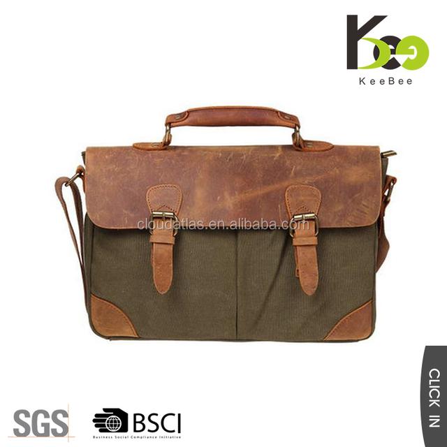 Promotional Wholesale Men Vintage Canvas School Shoulder Messenger Bag
