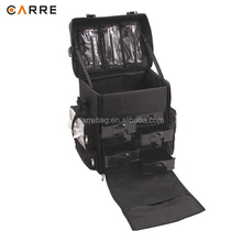 Soft-Sided nylon professional cosmetic beauty makeup soft rolling case with Drawers