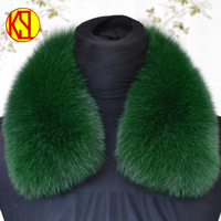 100% Fox fur collar Suitable for jacket Size&color custom ODM Square Fox Fur Scarf/Collar Of China