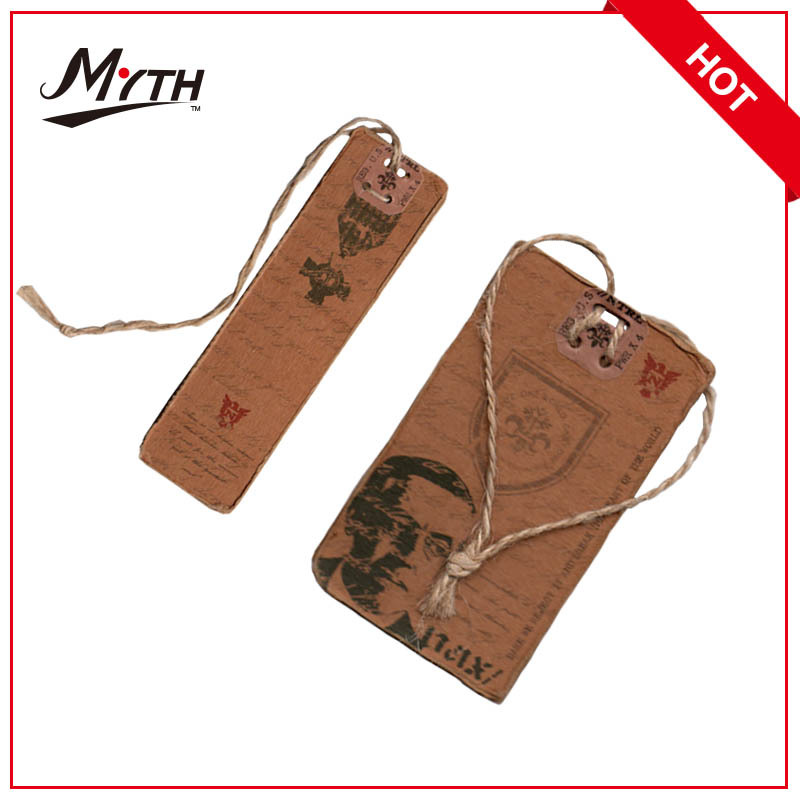 Newest Design Cardboard Paper Hang Tag Garment/Bag