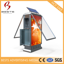 Good quality Solar Recycling Clothes Bin With Advertising Light Box
